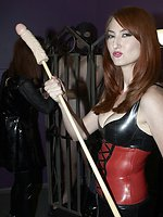 Mistress Cleo shows Her legendary single tail skills as strike after strike mark slave Tom