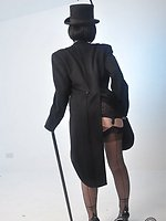 A very sultry shoot of Helga smoking and posing with her cane