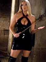 Fresh Blonde Dominatrix Brings the Pain