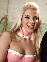 Smoking hot blonde dominatrix uses dog boy for her own sexual gratification and denies him any!
